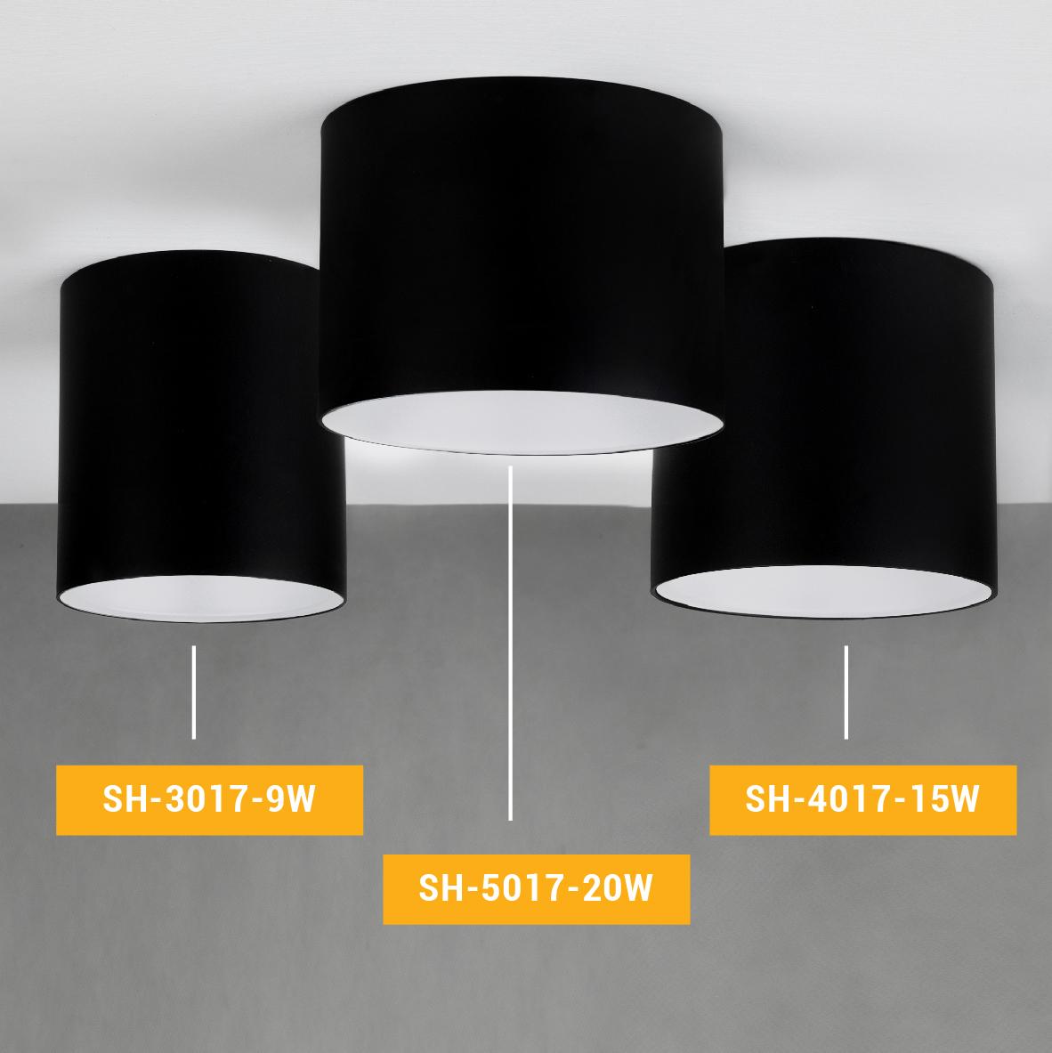 چراغ هاى سقفى روکار SH-4017-15W