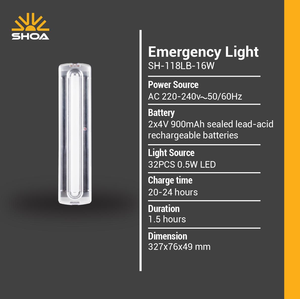 چراغ های شارژی و اضطراری SH-118-LB