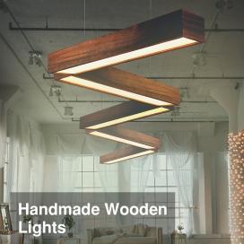 چراغ های دکوراتیو چوبی